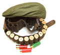 Holster hunter with shotgun cartridges Royalty Free Stock Photos