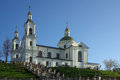 Holy assumption cathedral vitebsk belarus in spring day Royalty Free Stock Photo