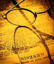 Holy bible close up of old book Royalty Free Stock Images
