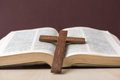 Holy Bible and cross Royalty Free Stock Photo