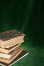 Holy bible on a dark green background Royalty Free Stock Image
