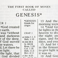 Holy Bible Genesis. Royalty Free Stock Images