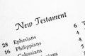 Holy Bible New Testament Royalty Free Stock Photo