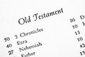 Holy bible old testament table of contents page Royalty Free Stock Image