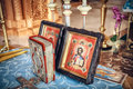 Holy bible and orthodox icons prepared for wedding ceremony Stock Photography