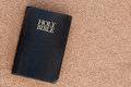 Holy bible the on sand Royalty Free Stock Photo