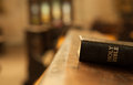 Holy bible on a wooden church bench Stock Photography
