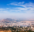 Holy city pushkar rajasthan india aerial view from savitri temple Stock Image