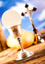 Holy Communion Bread, Wine Royalty Free Stock Photo