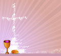 Holy communion invitation background vector illustration Royalty Free Stock Images