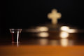 Holy communion service lord s supper Royalty Free Stock Photo