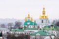 Holy cross church a monument of architecture of xviii century is the most significant building of the caves of kiev pechersk lavra Royalty Free Stock Photo