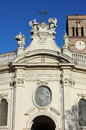 Holy cross in jerusalem basilica in rome facade of italy Royalty Free Stock Photography