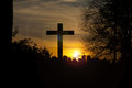 Holy cross over the sunset Royalty Free Stock Images