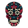 Holy Death, Day of the Dead, Mexican Sugar Skull,Dead, Feast of Death, Vector Skeleton Head Drawing