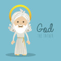 Holy design over blue background illustration Royalty Free Stock Images
