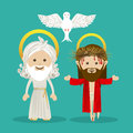 Holy design over blue background illustration Stock Photos
