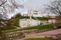 Holy dormition cathedral on uspenskaya mountain vitebsk the belarus Stock Image