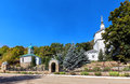 Holy dormition monastery diocesan in lipetsk view of the russia Stock Photography