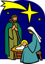 Holy Family Nativity/eps Royalty Free Stock Photo
