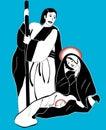 Holy family nativity vector Royalty Free Stock Photo