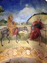 Holy family painting of from medieval times Royalty Free Stock Image