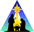 Holy Family Silhouette/eps Royalty Free Stock Photo