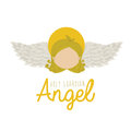 Holy guardian angel over white background vector illustration Stock Image