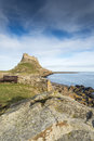 Holy island castle the national trust england Royalty Free Stock Photo