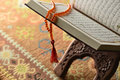 Holy koran book of and and islamic rosary Stock Images