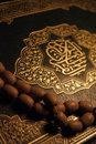 Holy Koran book & rosary