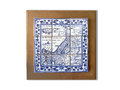Holy Land Souvenir Ancient Map Ceramic Tile Framed