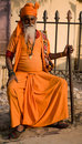 Holy man in Jaipur Royalty Free Stock Photography
