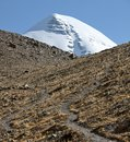 Holy Mount Kailash in Tibet Royalty Free Stock Photography
