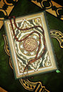 Holy Quran Book With Rosary Stock Images