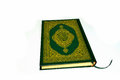 Holy quran from the front with white background Royalty Free Stock Photos