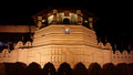 Holy sacred temple of tooth relic most in sri lanka night time shot Stock Photo