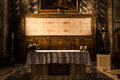 The holy shroud detail of a copy of of turin italy Royalty Free Stock Image