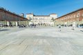 Holy shroud exhibition in torino italy april tourists and pilgrims roaming the historical centre of turin italy the period of Royalty Free Stock Images