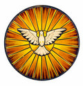Holy Spirit Stained Glass Royalty Free Stock Photo