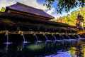 Holy Spring Water Tirta Empul Hindu Temple at Bali in Indonesia. Royalty Free Stock Photo