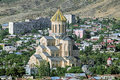 Holy trinity cathedral of tbilisi georgia the main the georgian orthodox church and the third tallest eastern orthodox Royalty Free Stock Images
