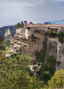 Holy trinity monastery in meteora rocks meaning suspended into air in trikala greece the is one of the largest and most important Stock Photography