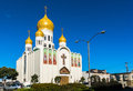 Holy virgin cathedral the also known as joy of all who sorrow is a in san francisco of the russian orthodox church Royalty Free Stock Photo