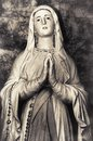 Holy Virgin Mary Catholic Church Mother of God religious woman praying Royalty Free Stock Photo