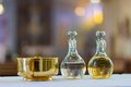 Holy Water and Oil for Unction Royalty Free Stock Photo