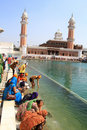 Holy water sarovar Royalty Free Stock Image