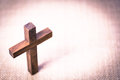 Holy Wooden Christian Cross Royalty Free Stock Photo