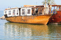 Holyland boat old styled ship for galilee sea cruise israel Stock Photo