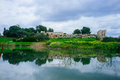 Holyland series afek national park panorama is a located miles east of tel aviv it has a long history and ruins of crusaders and Royalty Free Stock Image